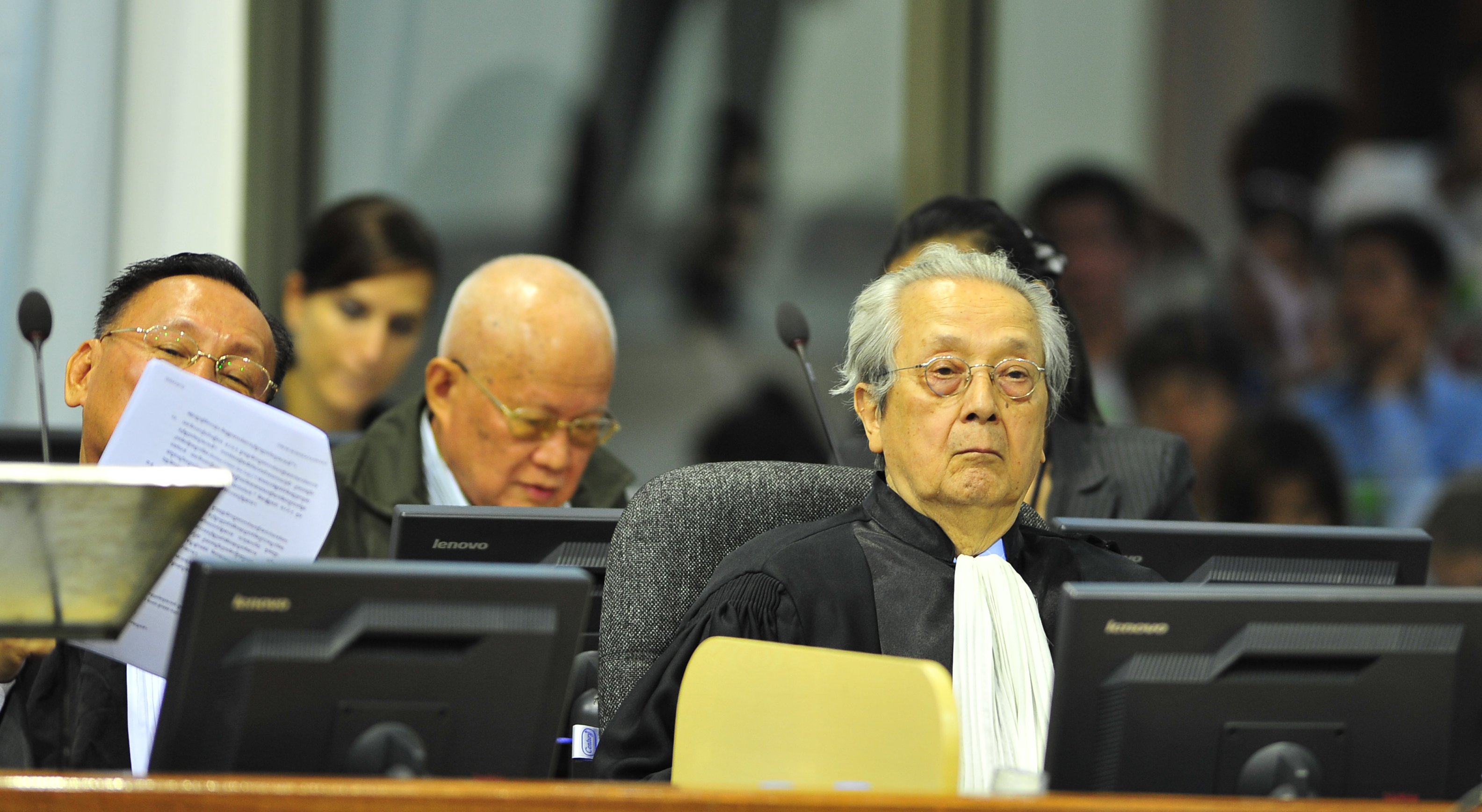 Jacques Vergès was Khieu Samphan's Defense Counsel at the ECCC in 2012.