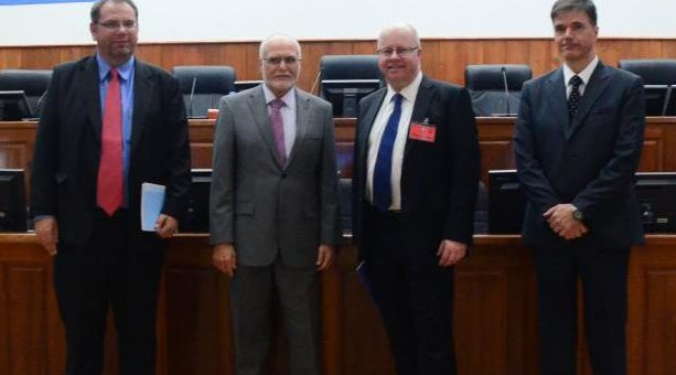 Judge Martin Karopkin (second from left)